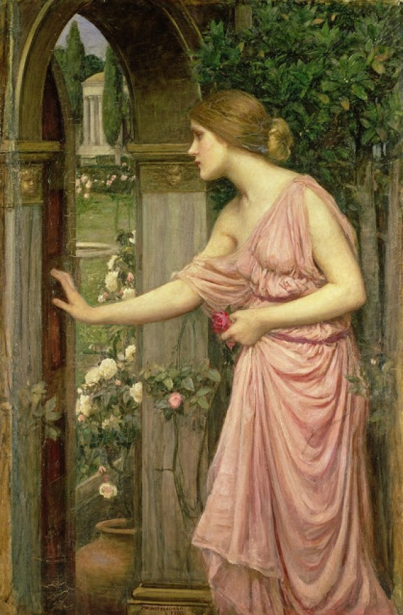 John William Waterhouse-Psyche entering Cupid's house