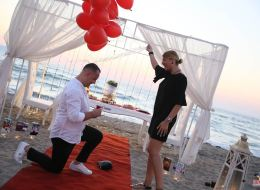 Kumsalda Evlilik Teklifi Organizasyonu Evlenme Teklifi Anı