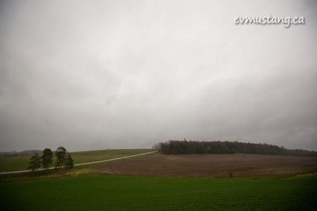 image of soft rain on farm fields