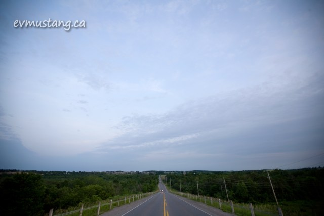 image of Ackison Road at sunset on the summer solstice
