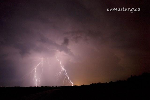 image of lightning strike at night