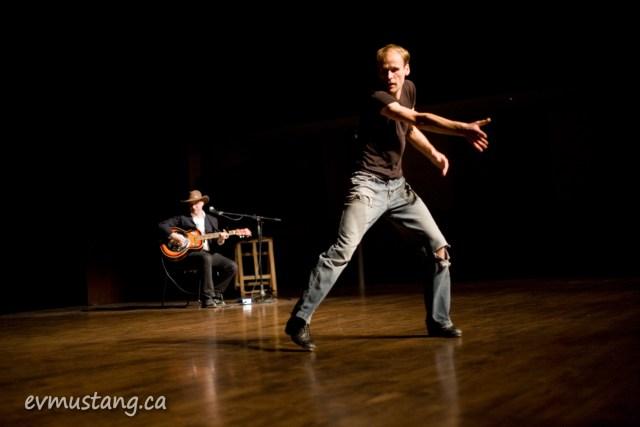 image of Bill Coleman tap dancing while Michael Caplan plays guitar
