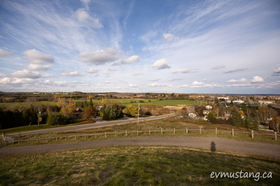 image of north Peterborough from Tower Hill