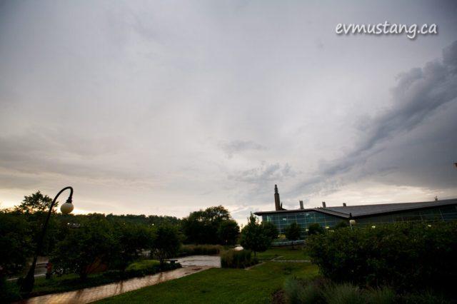 image of Trent University after a big storm
