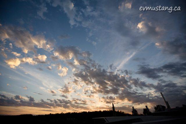 image of sunset over Trent University