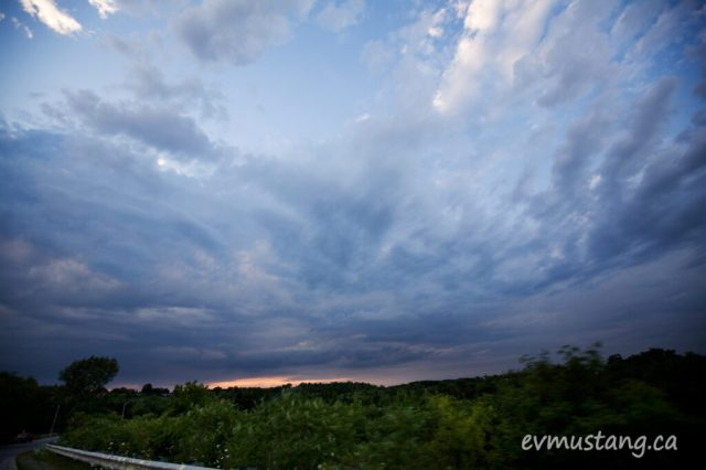 image of sunset from Nassau Mills Road