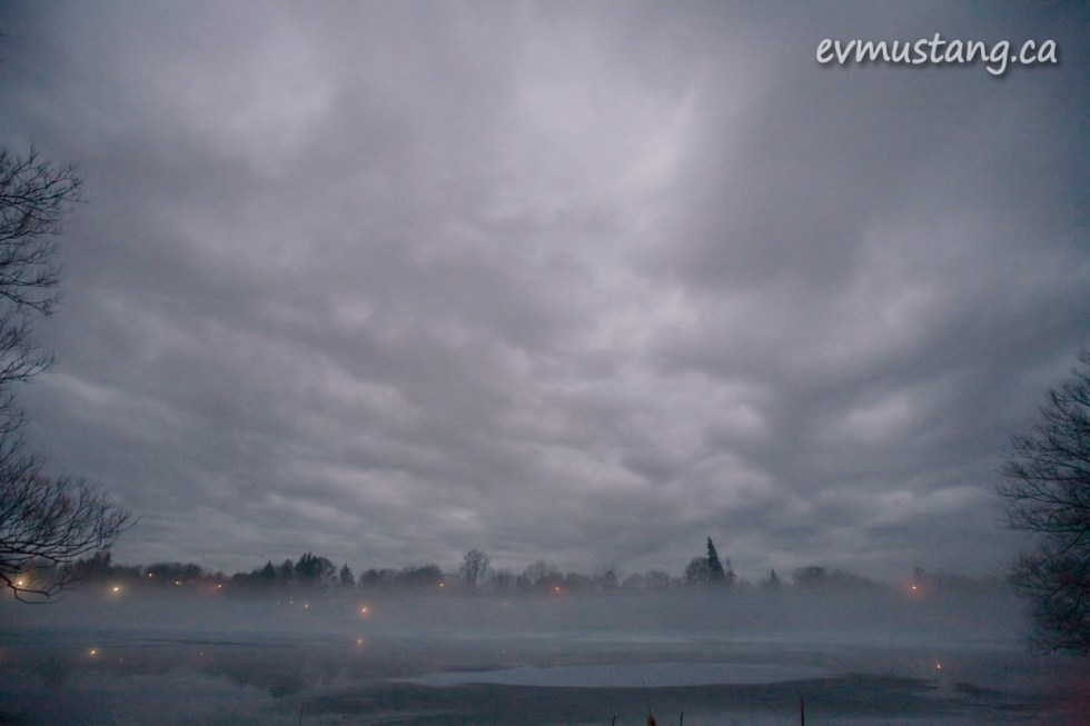 image of fog over river