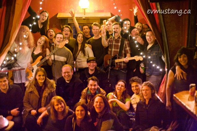 image of audience at The Red Garnet, peterborough