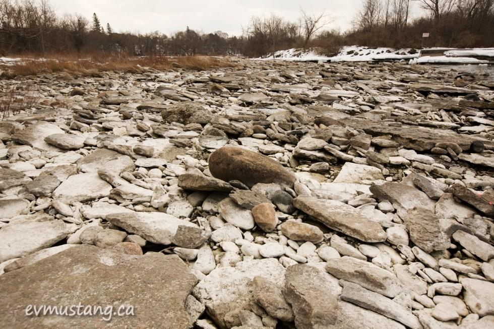 image of rocks in bleak landscape