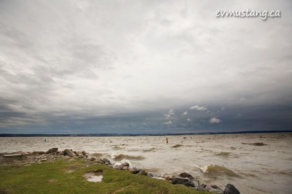 rough water on rice lake