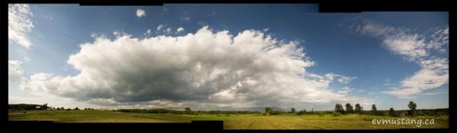 image of storm cloud over Trenton, Ontario