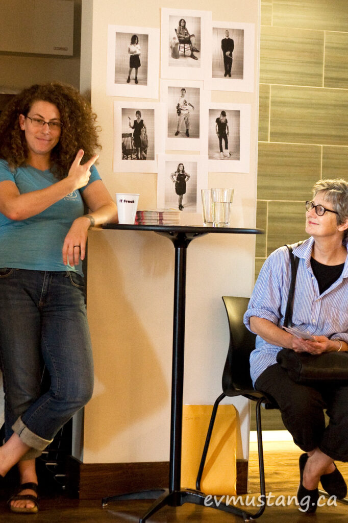 image of Liz Fennel and Annie Jeager promoting the Dayjob Project for Artsweek 2014