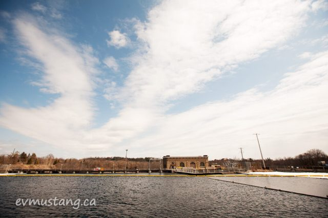 image of the london street dam in peterborough, spring 2015