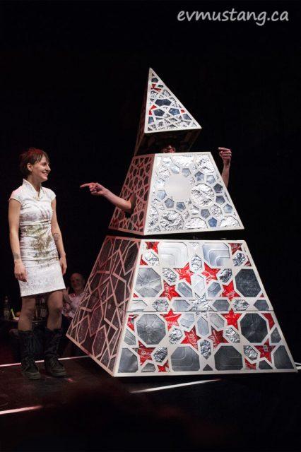 Spencer Allen modeling Gillian Turnham's design with The Night Kitchen Shop materials