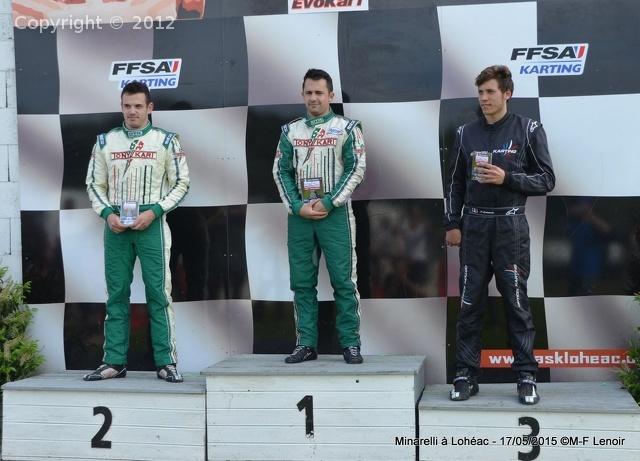 Lohéac 2015 - podium max evo