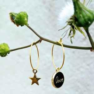 petites créoles dorées love evolbijoux (2)