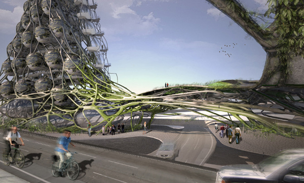The Graft Tower Is A Parametric Eco Hotel And Vertical