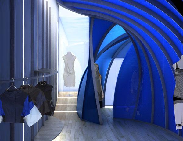 Blue Room For Ohne Titel Barker Freeman Design Office