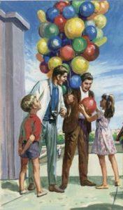 L'enfant et les ballons