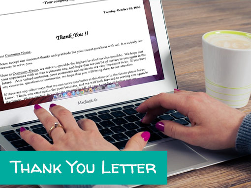 Thank you letter writing service