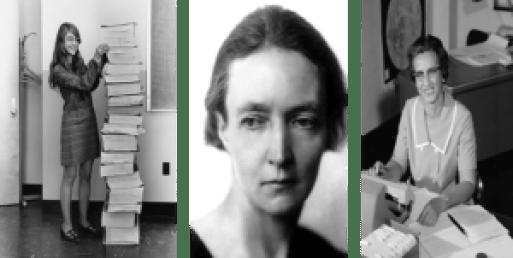 Margaret Hamilton, Irène Joliot-Curie, Katherine Johnson, trois femmes scientifiques reconnues