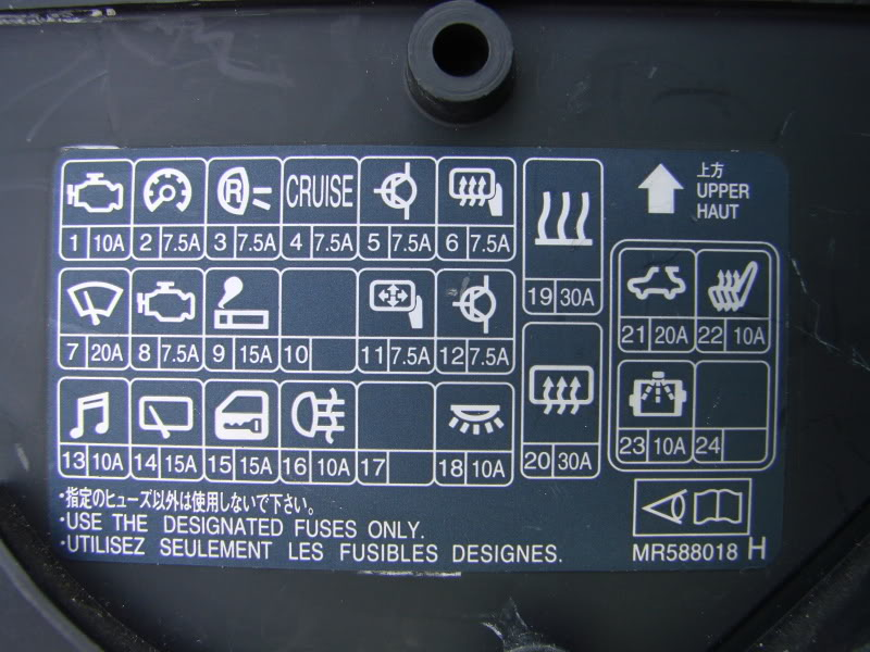 D Inside Dash Fuse Panel Dsc on 2002 Mitsubishi Lancer Fuse Box Diagram
