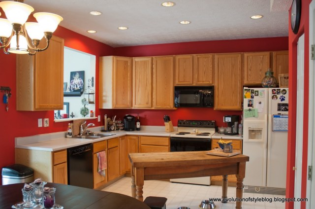 Painted kitchen cabinets before and after