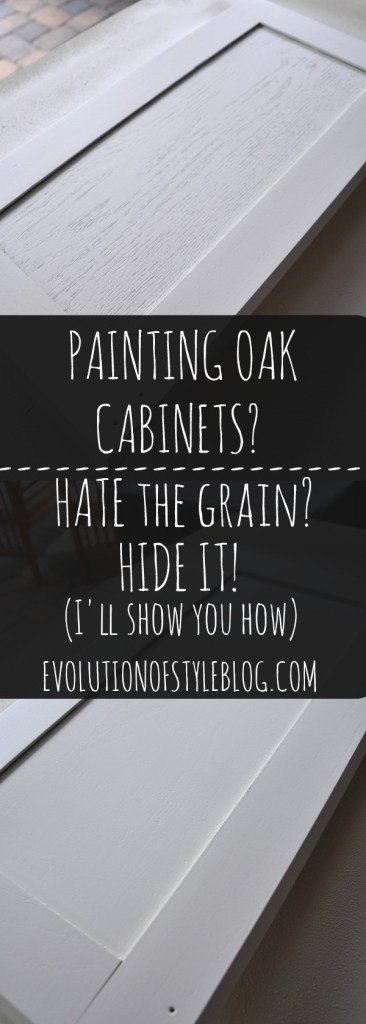 How to hide the grain when painting oak cabinets