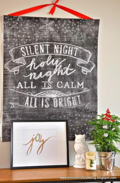Chalkboard Christmas Decor