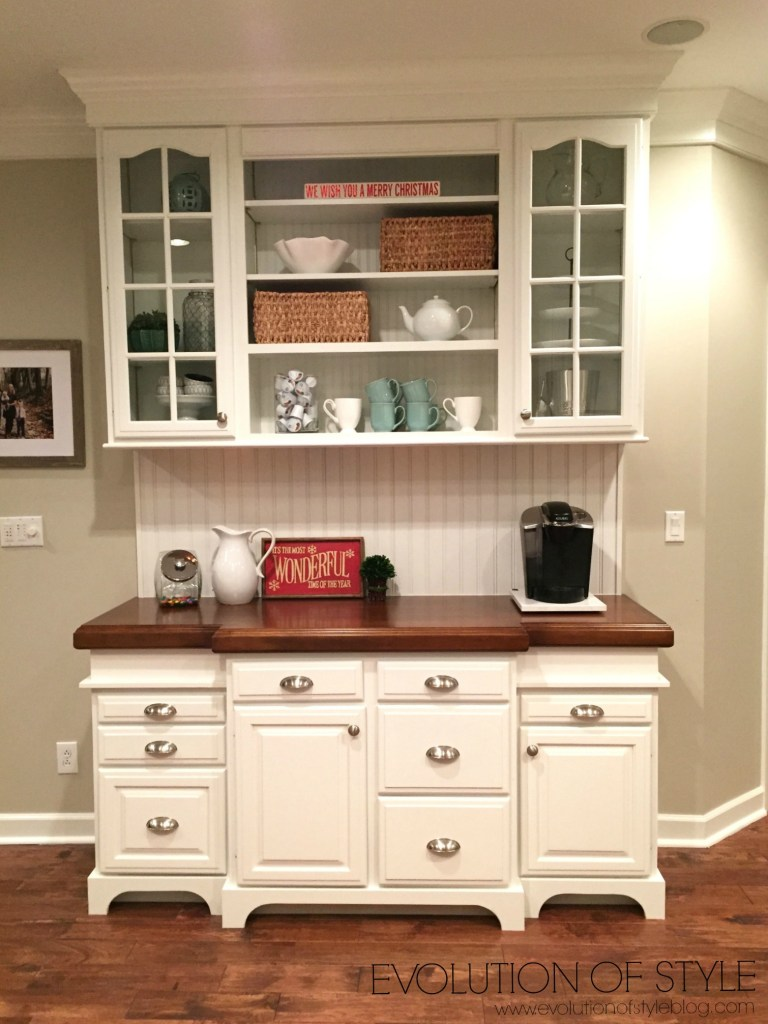 Painted Kitchen Cabinet Transformation