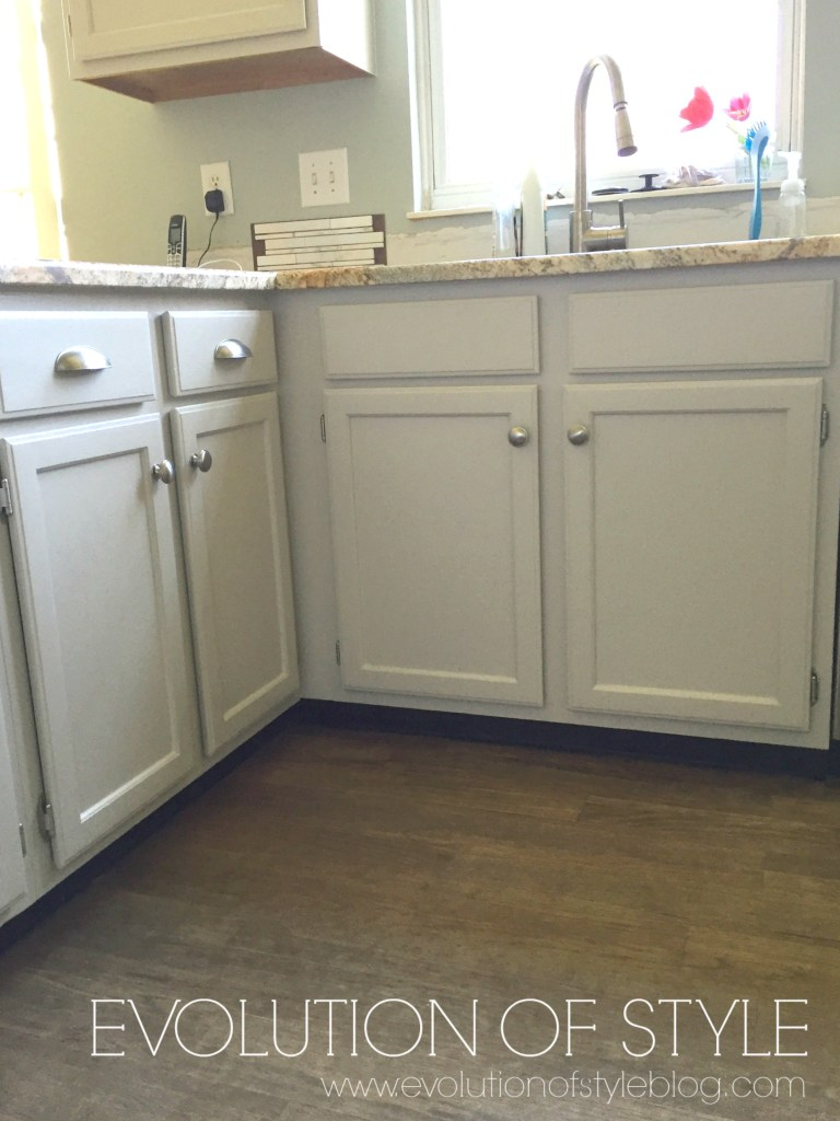 A Revere Pewter Kitchen Cabinet Makeover - Evolution of Style