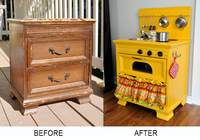 play kitchen before-after