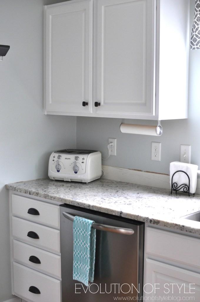 super white kitchen after
