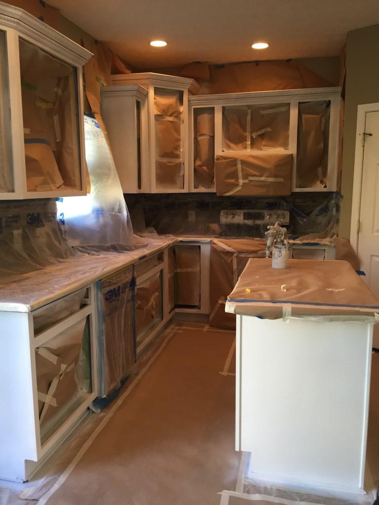 Spraying a Kitchen