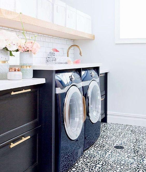 Navy laundry room