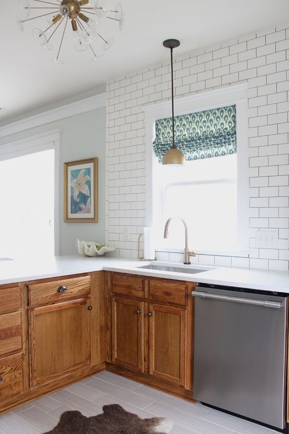 Stained Lower Cabinets