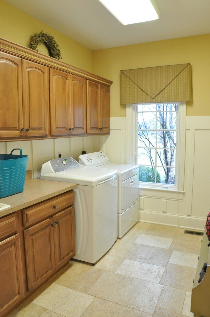 Laundry Room with Board and Batten