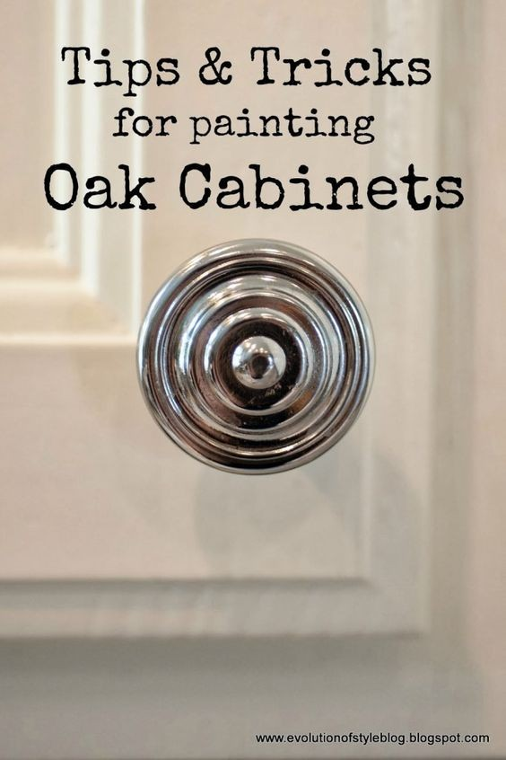 ips and Tricks for Painting Oak Cabinets