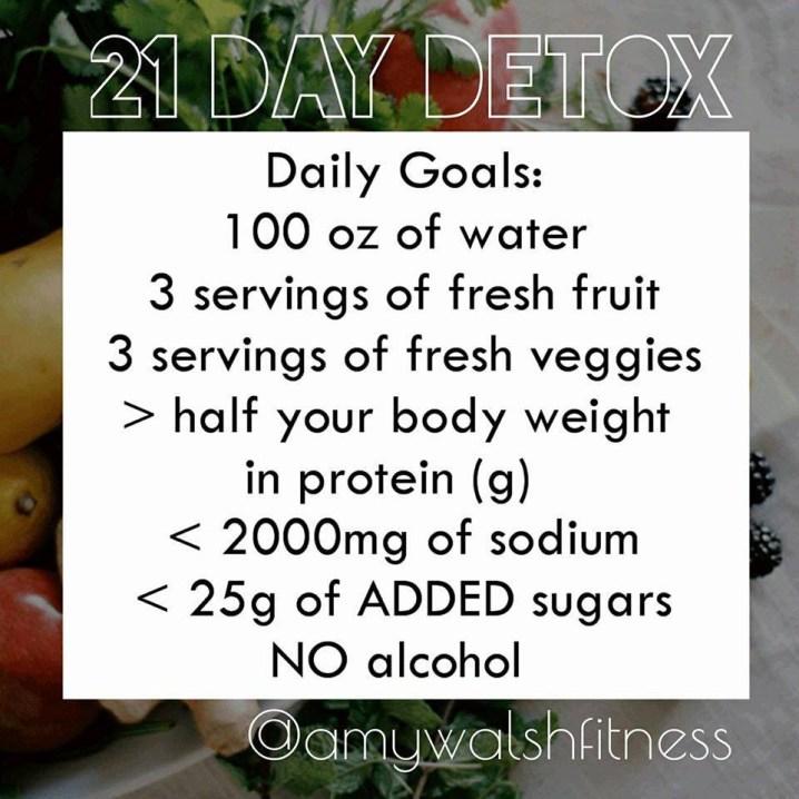 21 Day Detox Goals