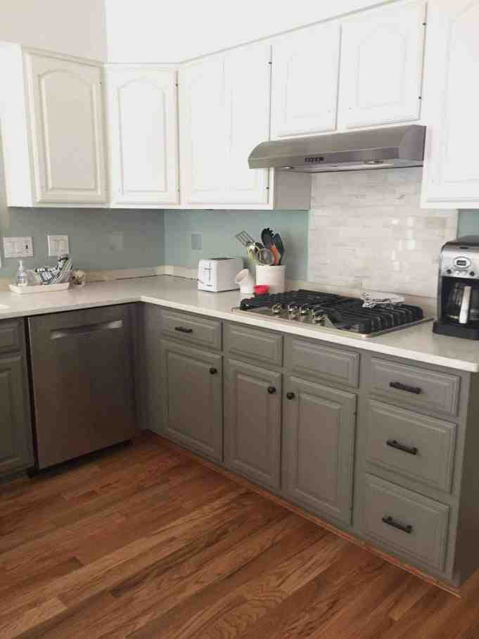 Simply White and Chelsea Gray Kitchen Makeover