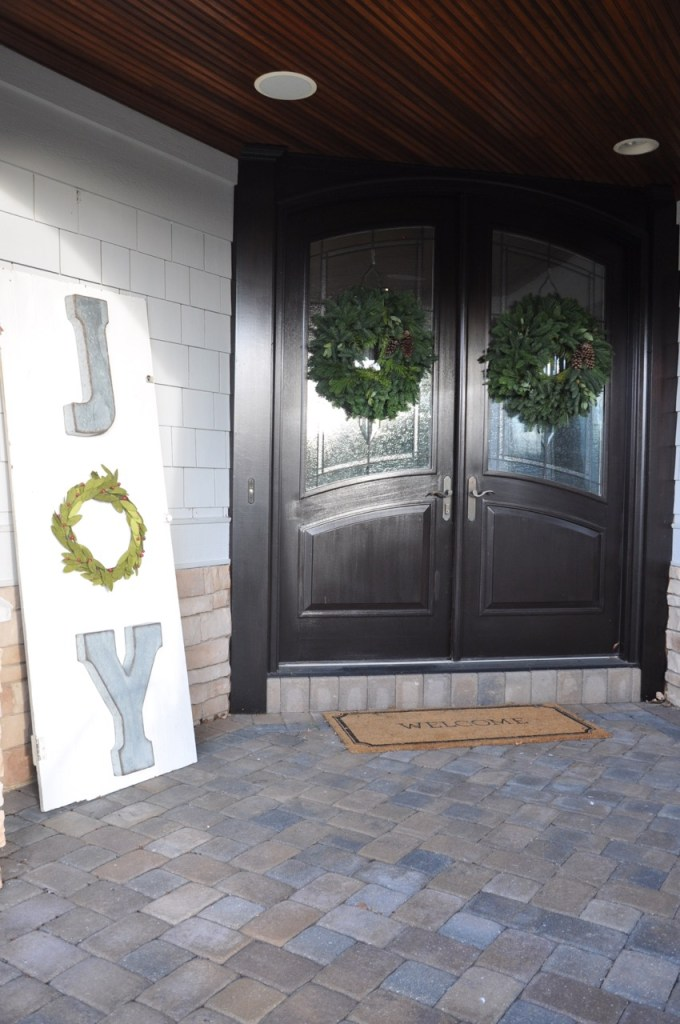 Outdoor Christmas Front Porch