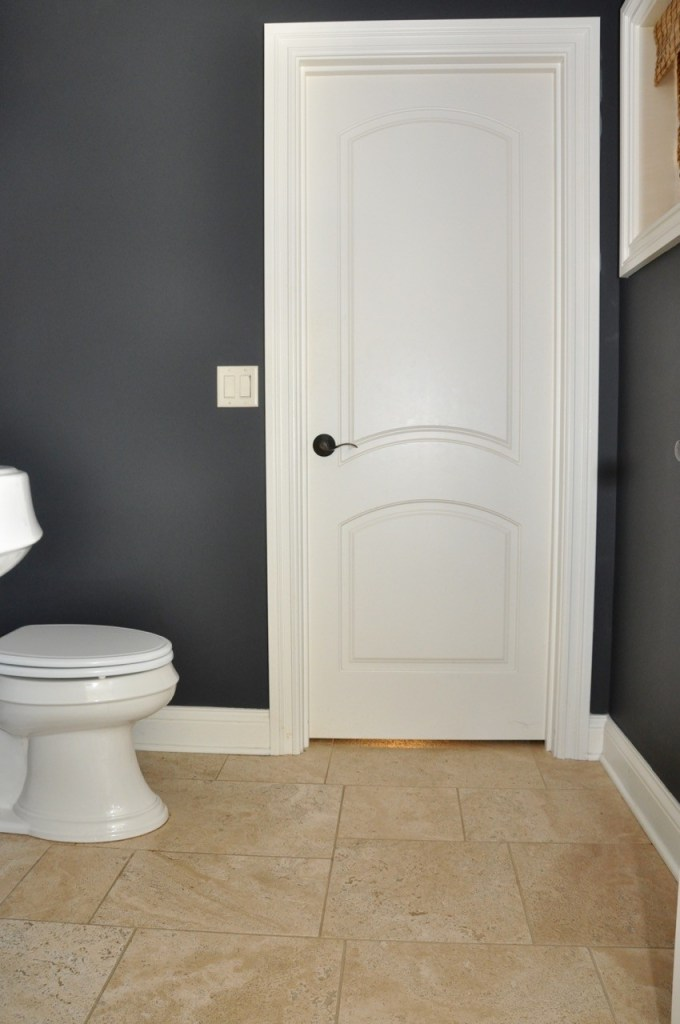 Dark Gray Nightfall in Powder Room