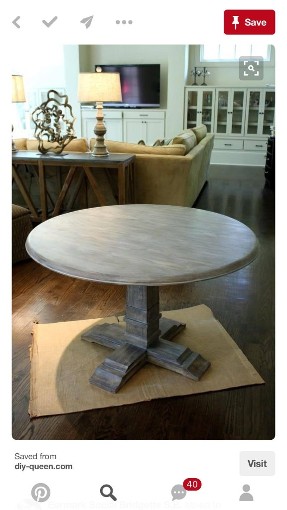 Dining Room Table Before
