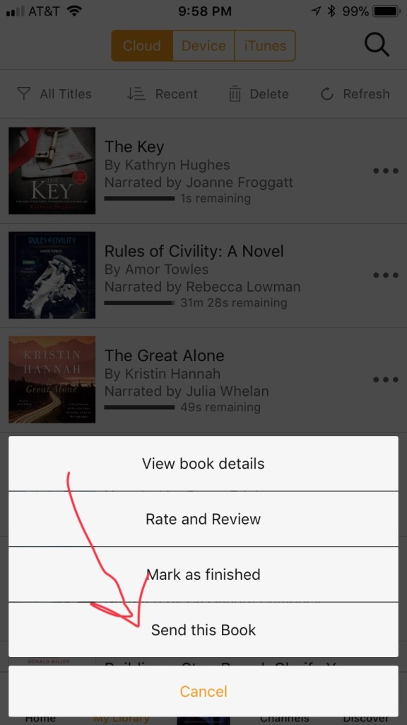 Audible - Sharing a book with a friend