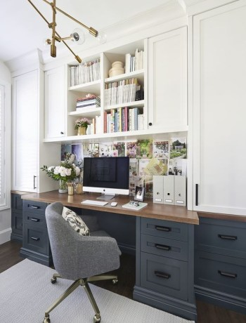 Navy and white office