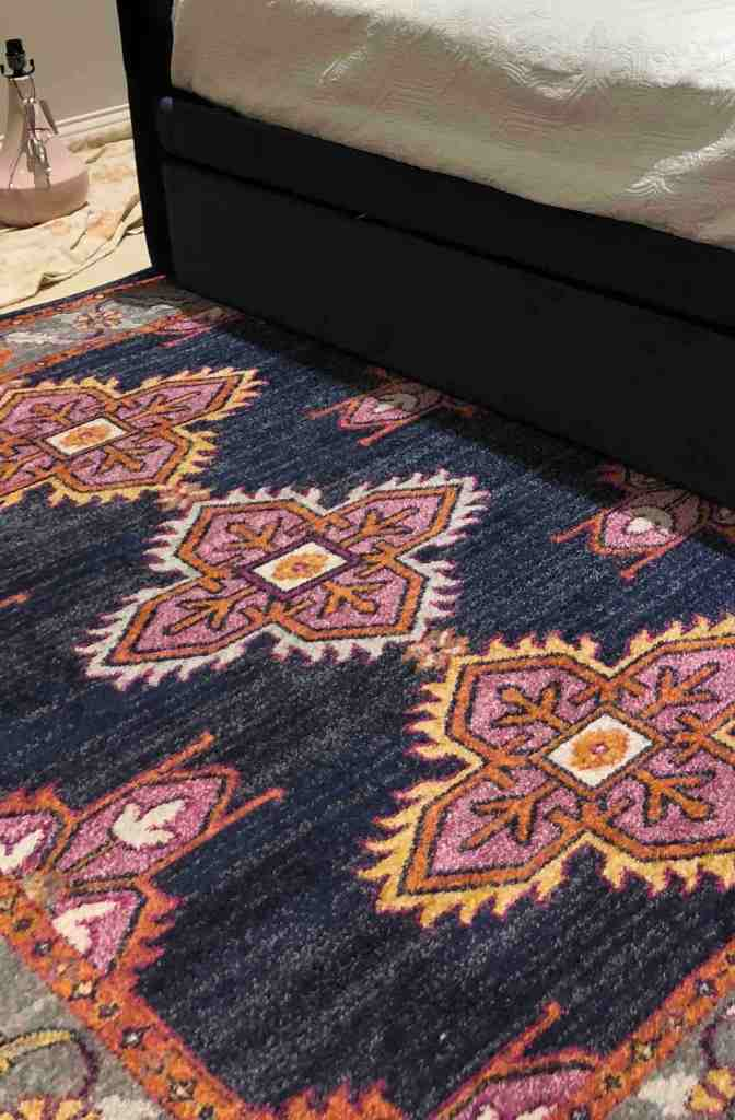 Navy and Pink Rug