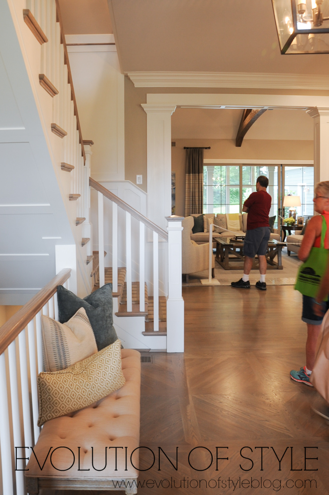 Home tour - entry with hardwood floors