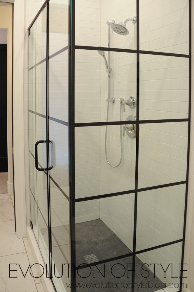 Glass paned shower