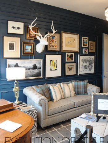 Dark Blue paneled office