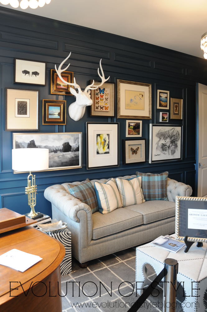 Dark Blue paneled office
